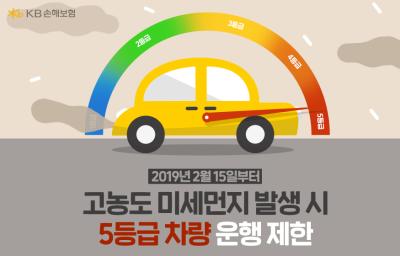 2월 15일부터 고농도 미세먼지 발생 시 수도권 노후화된 5등급 차량 운행 제한